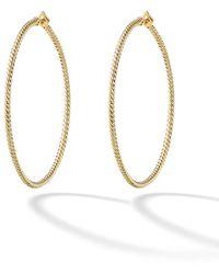 David Yurman 18kt Yellow Gold Cable Classics Hoop Earrings - Металлик