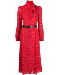 MICHAEL Michael Kors Signature Logo Dress - Red