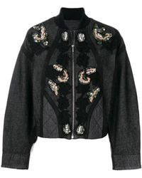 Antonio Marras Sequin And Floral Embroidered Jacket - Gray