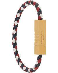 Thom Browne - Bracelet à plaque logo - Lyst