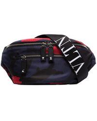 Valentino Valentino Garavani Camouflage Cross Body Bag - Blue