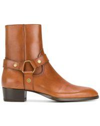 Saint Laurent - Classic Wyatt 40 Harness Boots - Lyst