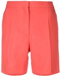 Rochas - Pleated Shorts - Lyst