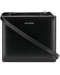 Jil Sander Case Mini Box Cross-body Bag - Black