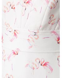 Olympiah フラミンゴ イブニングドレス - ホワイト