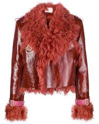 Dion Lee - Fur Trimmed Jacket - Lyst
