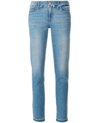 7 For All Mankind - Frayed Trim Jeans - Lyst