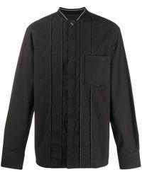 Lanvin リブネック シャツ - ブラック