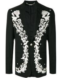 John Richmond - Floral Embroidered Blazer - Lyst