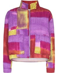 Collina Strada Quilted Patchwork Jacket - Purple