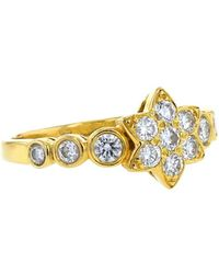Van Cleef & Arpels 2000s Pre-owned Yellow Gold Star Diamond Ring - Metallic