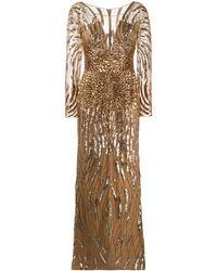 Zuhair Murad Sequin-embellished Gown - Metallic