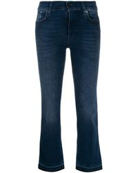7 For All Mankind Illusion Integrity クロップドジーンズ - ブルー