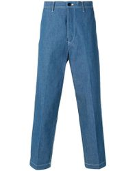 Tomorrowland - Tailored Straight-leg Trousers - Lyst
