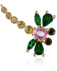 Yvonne Léon - Multicoloured Dragonfly Sapphie And Gold Single Earring - Lyst