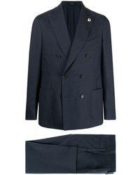 Lardini ダブルスーツ - ブルー