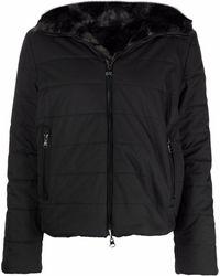 EA7 リバーシブル フーデッドジャケット - ブラック