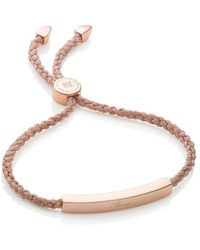 Monica Vinader Linear Rose Gold Metallica Bracelet - Multicolour