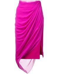 Prabal Gurung - Draped Midi Skirt - Lyst