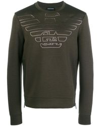 Armani Jeans - Degrade Logo Sweatshirt - Lyst