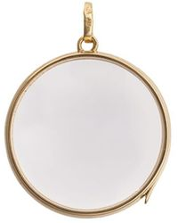 Loquet London - Large Round Gold Locket ペンダント - Lyst