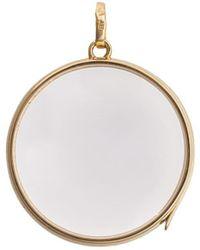 Loquet London - Large Round Gold Locket ペンダント - Lyst