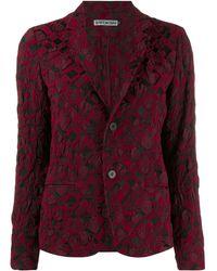 Issey Miyake Chaqueta estilo blazer - Rojo