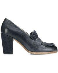 Sartori Gold Fringe Detail Court Shoes - Blue