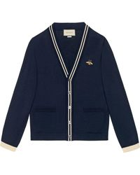 Gucci - Cardigan Wool Knit With Bee - Lyst