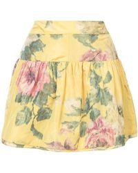 Marchesa - Floral Print Mini Skirt - Lyst