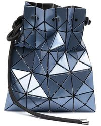 Bao Bao Issey Miyake Lucent Metallic-effect Bucket Bag - Blue