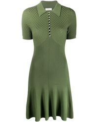 Sandro Knitted Polo Dress - Green