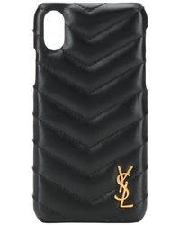 Saint Laurent - Quilted Effect Iphone Case - Lyst