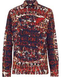 Burberry - Camicia con stampa graffiti - Lyst