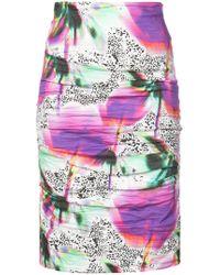 Nicole Miller - Blurry Bloom Sandy Skirt - Lyst