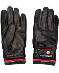 Paul Smith Handschuhe mit Streifendetail - Schwarz