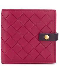 Bottega Veneta イントレチャート 二つ折り財布 - マルチカラー