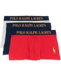 Polo Ralph Lauren Lot de trois boxers à logo - Rouge