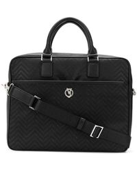 Versace Jeans Couture Elamo Men's Briefcase In Black