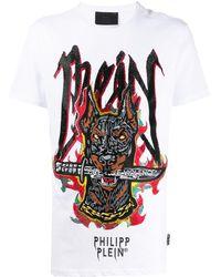 Philipp Plein Ss グラフィティ Tシャツ - ホワイト