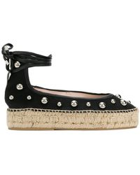 Premiata - Studded Chunky Sole Lace Up Espadrilles - Lyst
