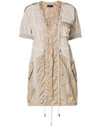 Diesel Black Gold - Mesh And Parachute Mini Dress - Lyst