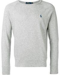 Polo Ralph Lauren Sweater Met Geborduurd Logo - Grijs