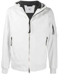 C.P. Company Куртка На Молнии С Капюшоном - Белый