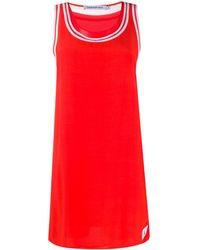 Calvin Klein Платье С Контрастным Кантом - Красный