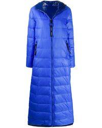 Pinko Abrigo acolchado con capucha - Azul