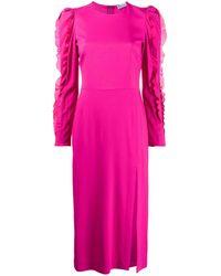 RED Valentino Ruffle-detail Mid-length Dress - Розовый