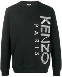 KENZO Contrast Logo Sweatshirt - Black