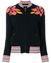 Chinti & Parker - Hibiscus Intarsia Bomber Jacket - Lyst