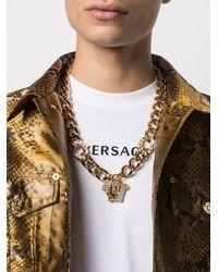 Versace Колье Medusa С Кристаллами - Металлик